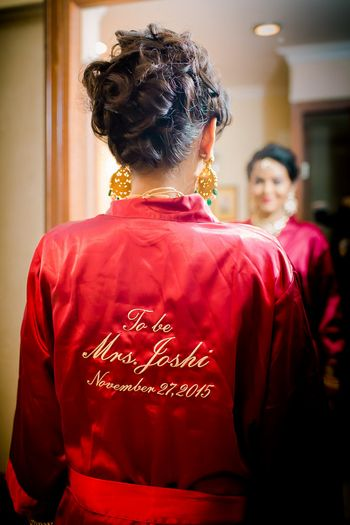 Photo of Silk robe for bride personalised