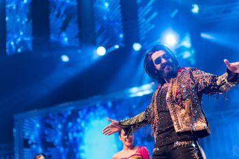Photo of Ranveer singh performing at wedding on sangeet