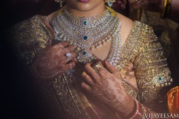 Diamond jewellery for a south indian bride