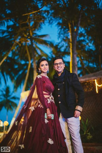 Bride and Groom on cocktail event