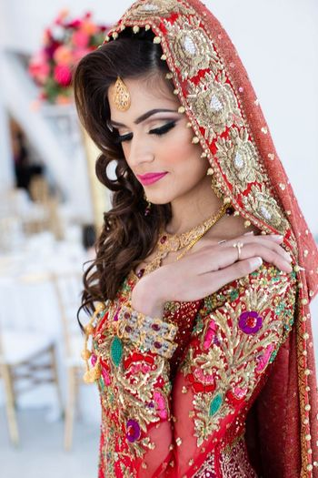 Bridal Makeup and Hairstyle for Muslim Bride