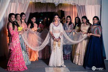 bride entering with the bridesmaids