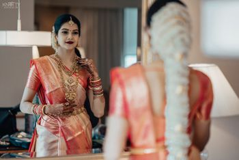 Modern South Indian bridal look