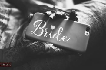 Cute bridal accessories bride phone cover