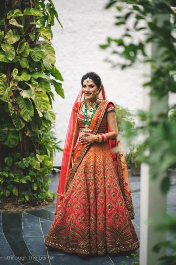 Photo of Orange ombre tarun tahiliani lehenga
