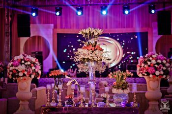 Purple Wedding Decor Photo