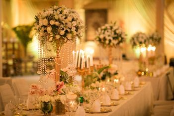 Photo of large floral table centerpieces