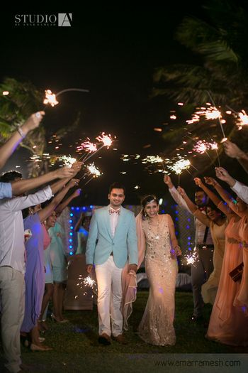 bride and groom entry