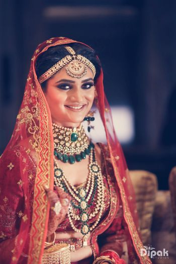 Photo of Layered bridal necklace with satlada