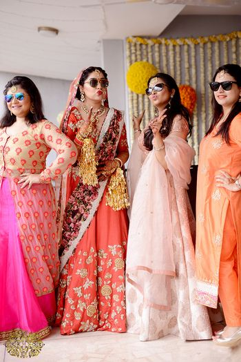 Photo of Indian bride with bridesmaids