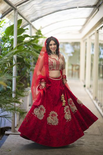 Red Bridal lehenga from Jade
