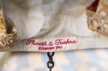 Photo of Cute wedding date idea with embroidered tag