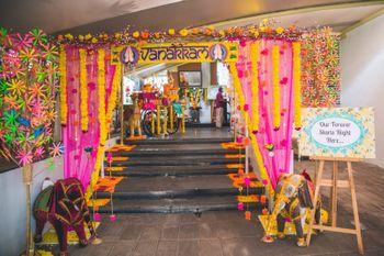 Quirky South Indian wedding decor entrance ideas