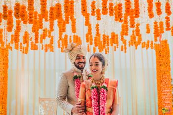 Photo of South indian couple portrait mandap photo