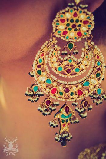 Photo of meenakari chaandbali earrings