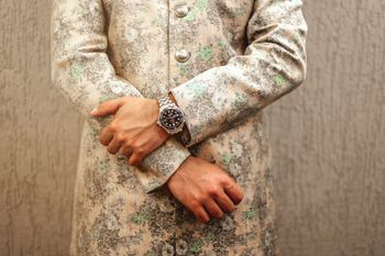 Photo of Sabyasachi floral sherwani