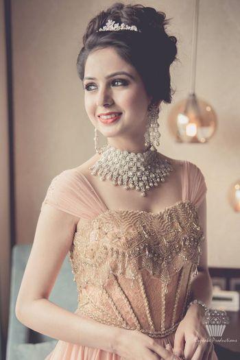 Glamorous Indian bride on engagement