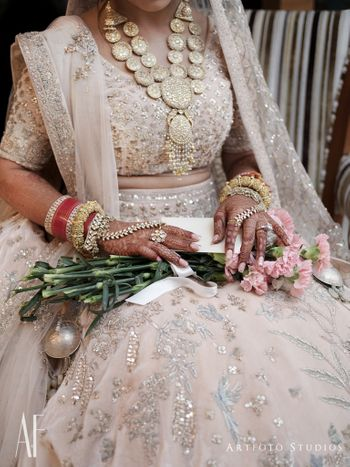 Photo of Bridal necklace and jewellery portrait