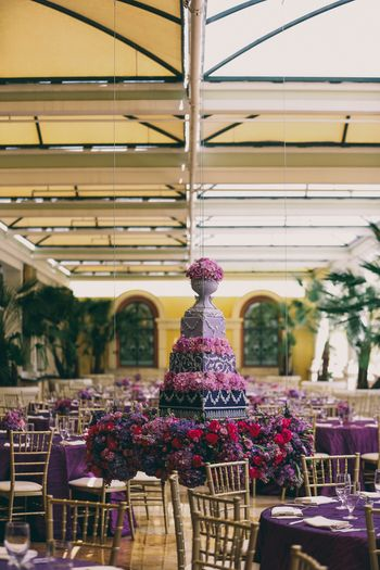 Photo of Lavender cake centerpiece