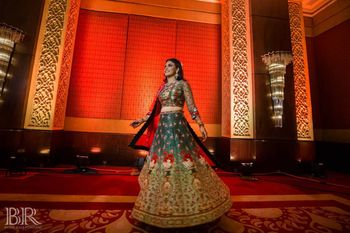 Photo of Sister of the bride printed lehenga