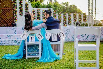 Unique couple shot for pre wedding shoot