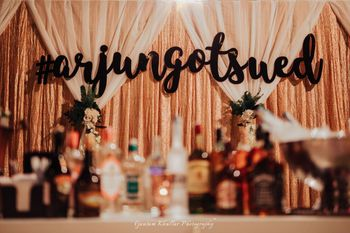 Wedding hashtag in decor giant sized