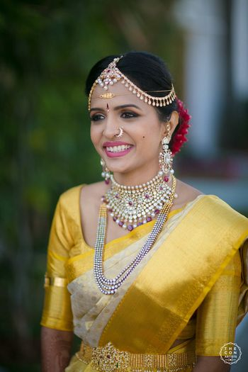 Happy south indian bride shot