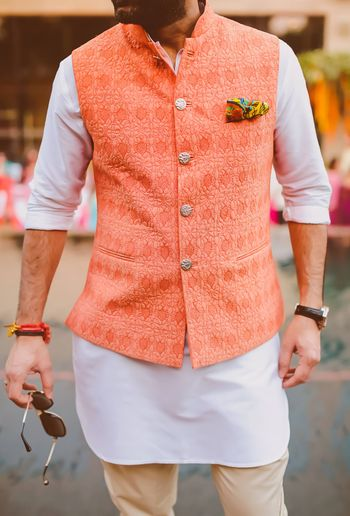 Photo of orange waist coat