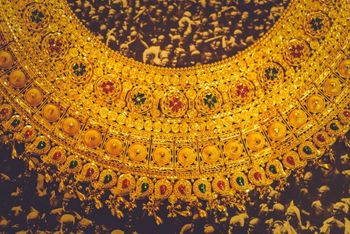 Photo of traditional gold bridal jewellery with precious gem stones