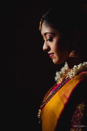 A pretty bridal portrait captured on the wedding day