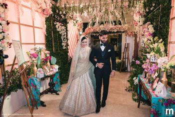Photo of Muslim bride and groom entry