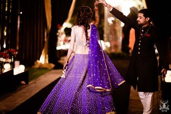 Photo of Sangeet lehenga in blue