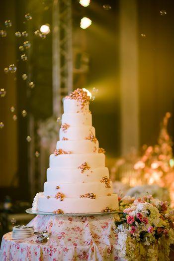 Photo of Elegant white 8 tier cake