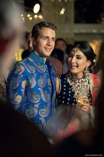 blue silk bandh gala