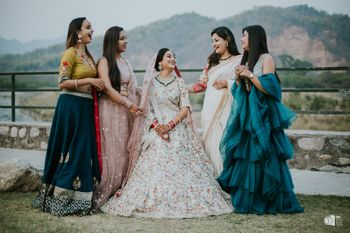 Photo of Bride with her bridesmaids