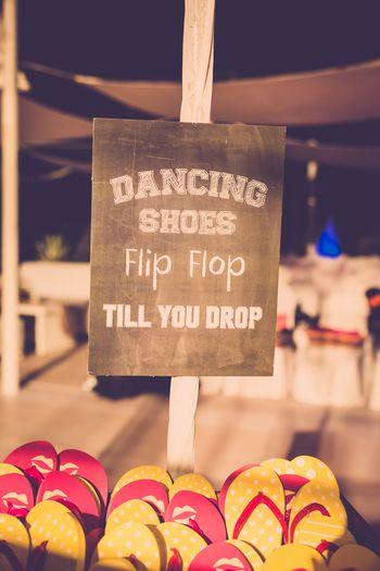 Sangeet idea flip flops
