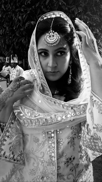Photo of A bridal portrait captured during a candid moment