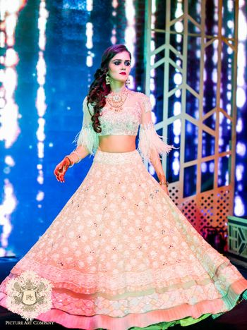 Photo of Manish malhotra fringed engagement lehenga
