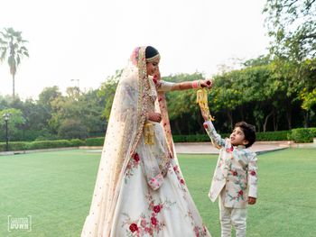 Photo of Matching bride and nephew