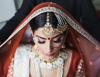 Bridal Nath with maangtikka and jhoomer