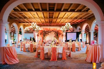 Peach Wedding Venues Photo taj mansingh hall decor
