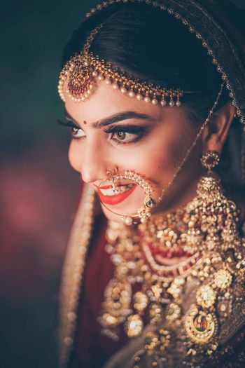 Gorgeous bridal shot captured