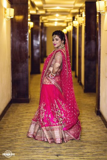 Photo of fuschia pink lehenga