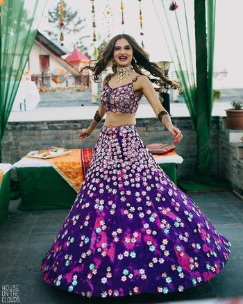 Photo of Ultraviolet lehenga colour for mehendi