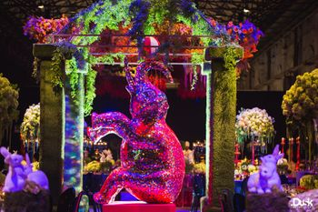 Glittery Elephant montague at Indian Wedding