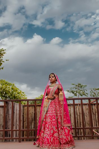 Photo of pink bridal lehenga