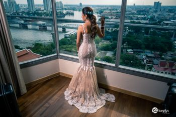 Stunning white gown