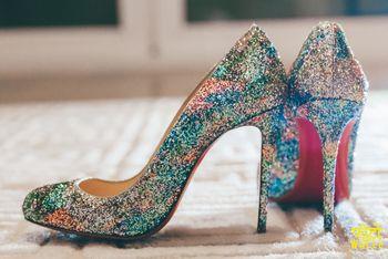 Shimmery stilletoes for brides
