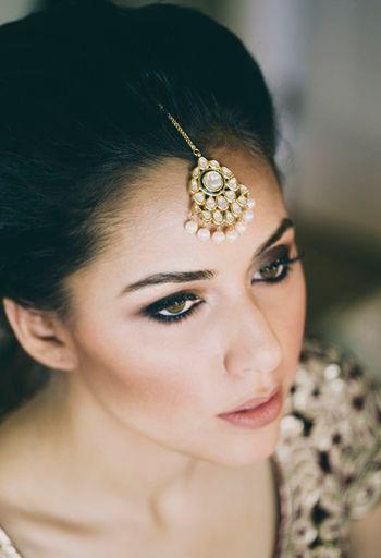 Smokey eyes bridal makeup