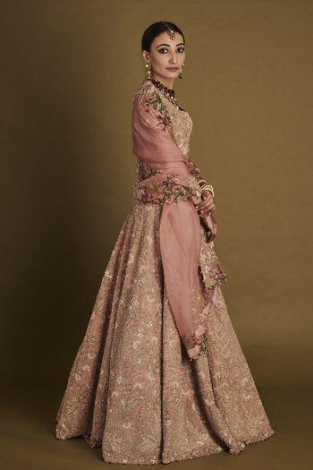 Offbeat Anamika Khanna bridal lehenga